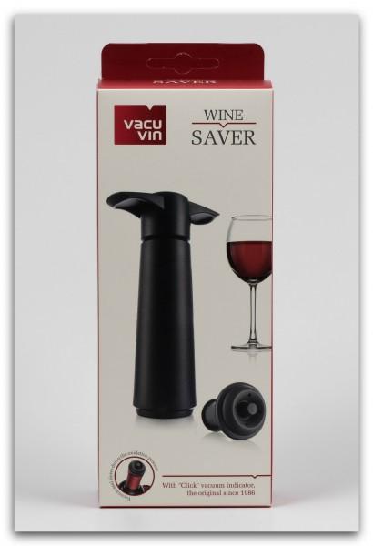 Vacu Vin Weinpumpe schwarz mit zwei Vakuumstopfen