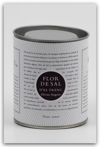 Flor de Sal d'Es Trenc Olivas Negras - Meersalz mit schwarzen Oliven - 150g