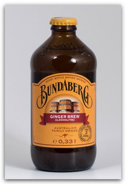 Bundaberg Ginger Brew Alkoholfreies Erfrischungsgetränk mit Ingwer-Geschmack - 0,33 Liter