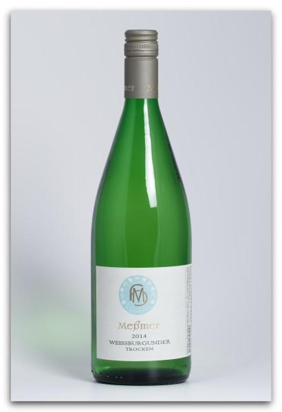Meßmer Weissburgunder DQ 2014, trocken - Literflasche